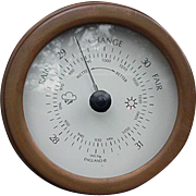 English Barometer, Round Metal Frame