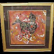 Jiang Tiefeng Serigraph, Black Horse, Chinese, 1988