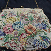 Vintage DeLill Petit Point Hand Bag