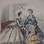 19th C. French Fashion Print