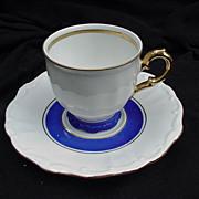 SALE PENDING Bareuther Bavaria Porcelain Demitasse Cup and Saucer