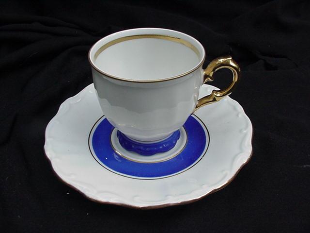 Bareuther Bavaria Porcelain Demitasse Cup and Saucer