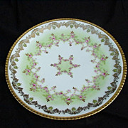 SALE L S & S Limoges, France Porcelain Plate, Highly Decorative