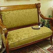 Edwardian or Belle Epoque Upholstered Settee