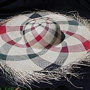 Huge Fringe Brim Vintage Straw Hat