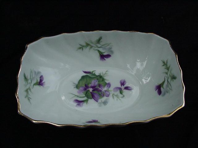 "Royal Adderley ""Violets Bouquet"" English Bone China Bowl"