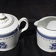 SALE Vintage Porcelain Mottahedeh Vista Alegre Cream & Covered Sugar