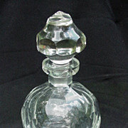 Clear Crystal Cut Glass Perfume Bottle