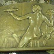 1920s Bronze Plaque, Raoul Lamourdedieu, French Sculptor