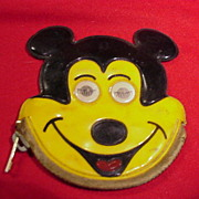 Vintage Mickey Mouse Coin Purse w Flashing Eyes