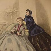 19th C. Fashion Print from Le Bon Ton Journal de Modes, Paris