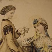 SALE Le Bon Ton, Journal de Modes, Paris, Illustration of 19th C. Fashion