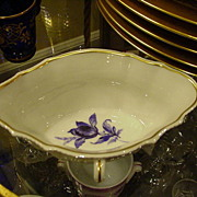 REDUCED Richard Ginori, Italy, Sauce Dish, Double-Handled, Blue Flower