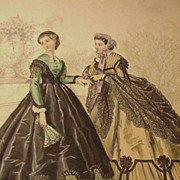 Le Bon Ton, Journal de Modes, Paris, Illustration of Women's Fashions