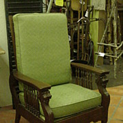 REDUCED Morris Type Reclining Chair by Cooke & Sons, 1903, Original Brass Label