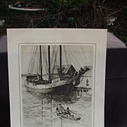 SALE R.H. Palenske Print, from Memorial Portfolio of Etchings, Brown & Bigelow's 60th Annivers