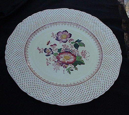 Pair of Mason's Patent Ironstone China Plates, Paynsley Pattern, Pink Flowers