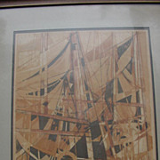 """Camille Hilaire Signed and Numbered Original Lithograph, """" Honfleur"""" 60 of 120"""