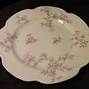 Haviland  & Co. French  Limoges Dessert/Salad Plate w Pink Floral Decoration