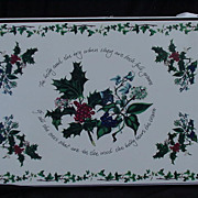 SALE PENDING Holly and Ivy Cork Board Placemats by Portmeirion
