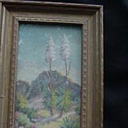 SALE 1930 Original Art by T. Mae de Ville, Flowering Yucca