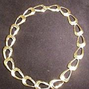Vintage Napier Necklace, Polished, Gold Tone Metal Links
