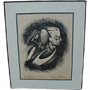 1979 Raphael Trelles Small Edition Print from Early Career of the Puerto Rican Artist