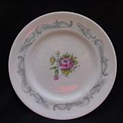 English Bone China Dessert or Salad Plates, Royal Doulton Chantilly Rose
