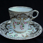 Exquisite 19th C. Copeland Cup and Saucer
