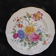George Jones & Son, Crescent China, Garden Party Plate, England, Bone China