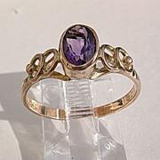 9kt Pink Gold Amethyst Ladies ARTISAN Ring
