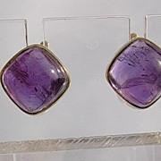 14kt  Vintage Luxurious Amethyst Dangle Earrings