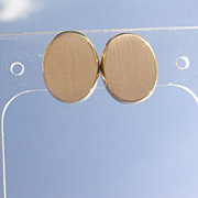 14kt Vintage Oval Gold Stud Earrings