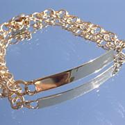14kt Yellow Gold Vintage UNISEX I.D. Bracelet