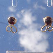 10kt Vintage Garnet Stud Earrings