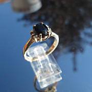 14kt Circa 1950's Vintage Sapphire/Multi Seed Pearl Ladies Ring