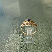 9-14kt Gold Sapphire/Diamond Ladies Artisan Ring