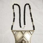 Large Tuareg Silver Talisman Amulet Necklace