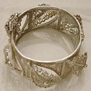 Silver Berber Three-dimensional Bracelet
