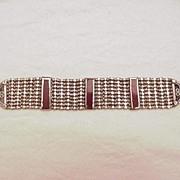 Antique Silver Indian Choker w/ Enamel