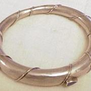 Indian Silver Bangle Bracelet with Lapis Lazuli