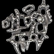 SALE Canadian Modernist Guy Vidal Pewter Pin