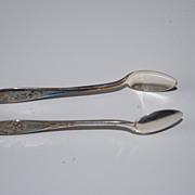 Fine Art Nouveau Sterling Silver Sugar Tong