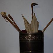 Art Nouveau Brass Umbrella Stand