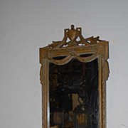 An Antique Wonderful Carved in Wood Louis XVI Wall Mirror