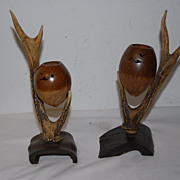 Pair Antique Incense or Perfume Burners