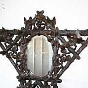 Carved Walnut Victorian Black Forest Hall Tree Stand