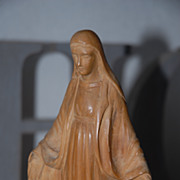 Lovely Antique Carved Wood Statue of the Virgin Maria