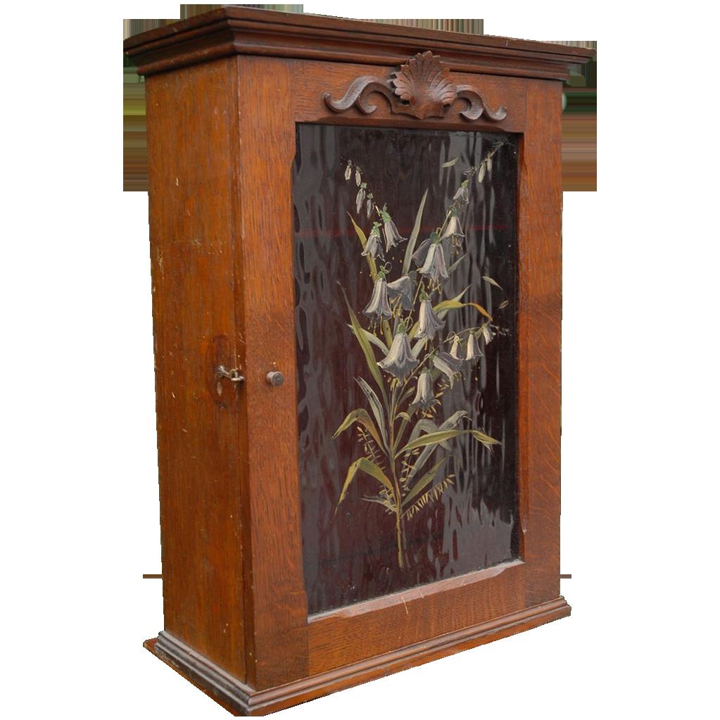 Vintage Gear Wall Decor : Antique wall cabinet medicine smoking or treasure