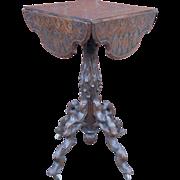 Walnut Black Forest era Victorian Flower Drop Leaf Table